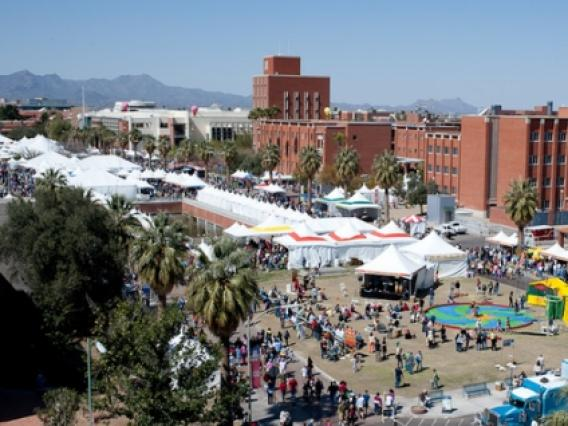 Festival of Books on the University of Arizona Mall