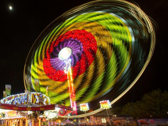 A Ferris Wheel at the Spring Fling carnival