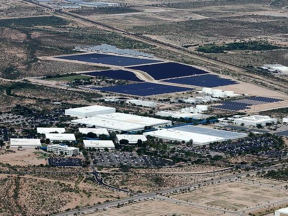 Bird's eye view of Tech Parks Arizona